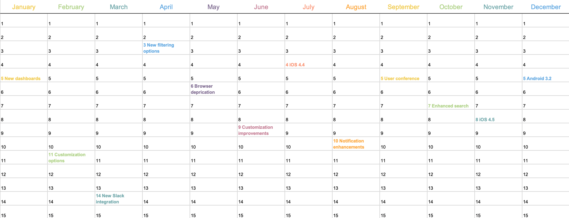 Download and personalize in the software or print out and write in family activities. 6 Free Marketing Calendar Templates Aha
