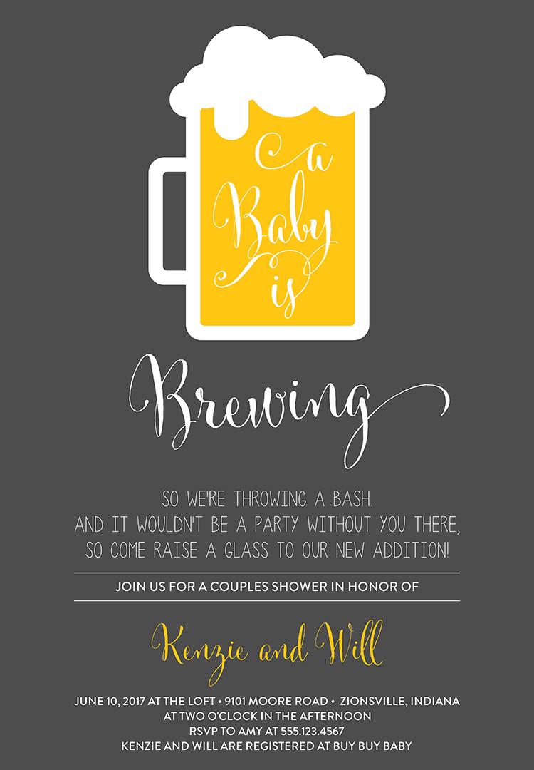 Coed Baby Shower Invitation Wording 1
