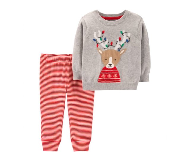 Carters Reindeer Baby Sweater Pants