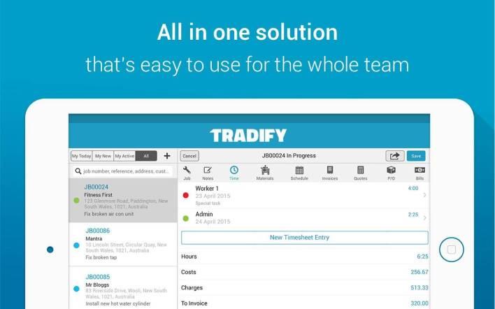 tradify   xero app store us