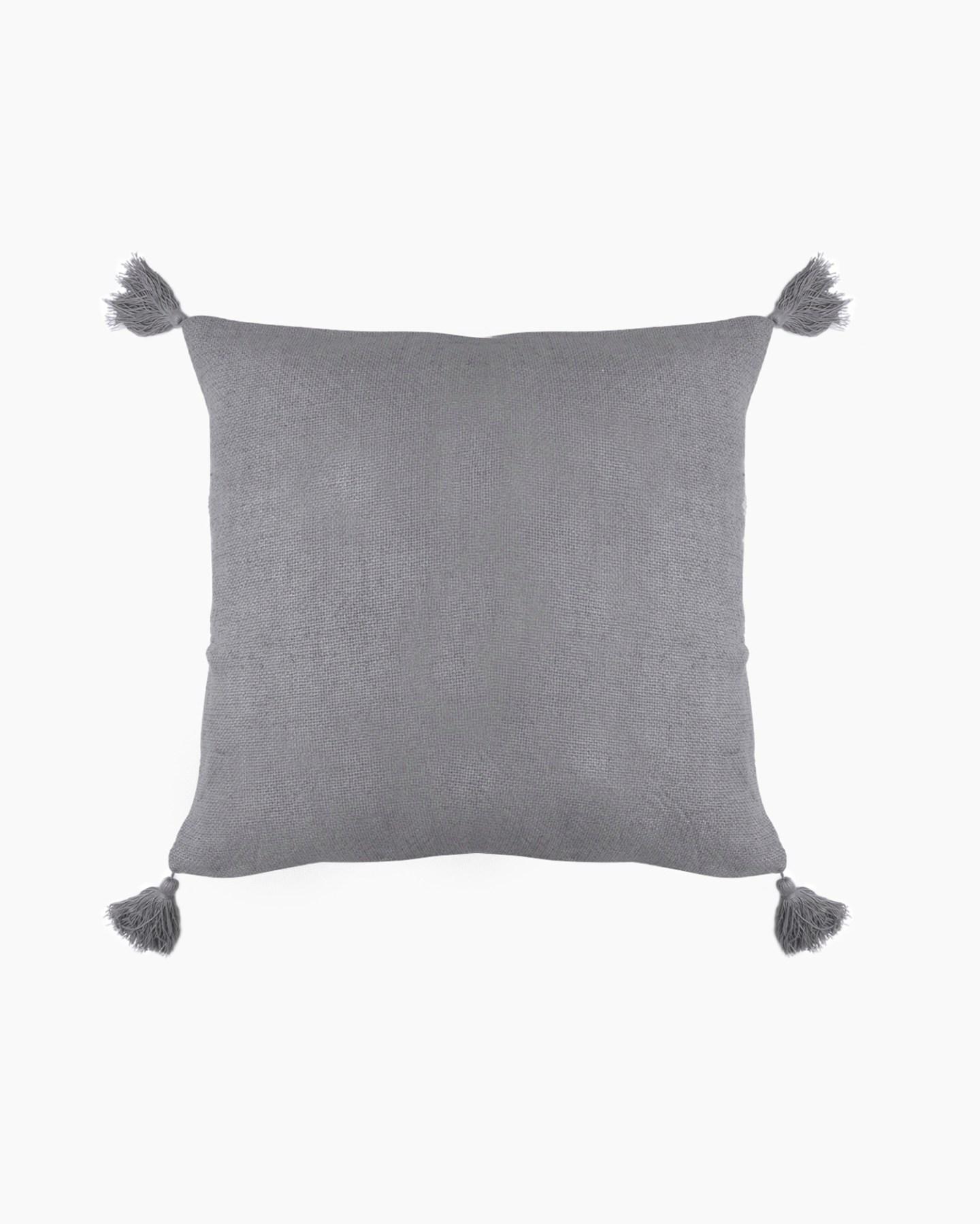linen tassel pillow cover
