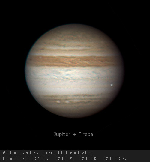 Followup: Jupiter impact video, and a color picture ...
