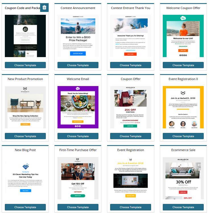 Wishpond newsletter templates for high-converting emails