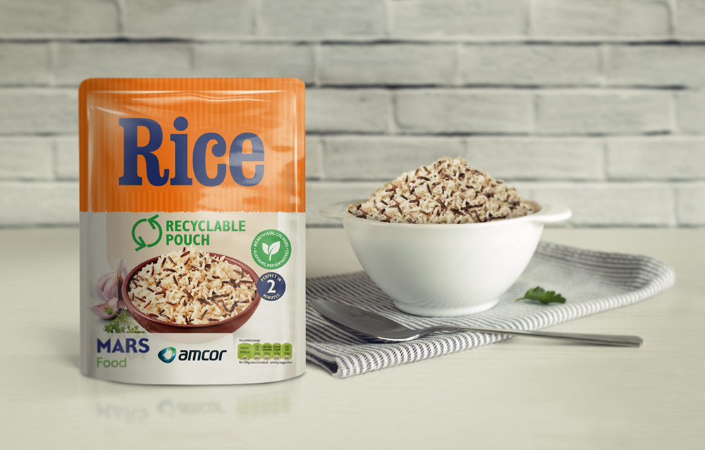 launch recyclable microwavable rice pouch