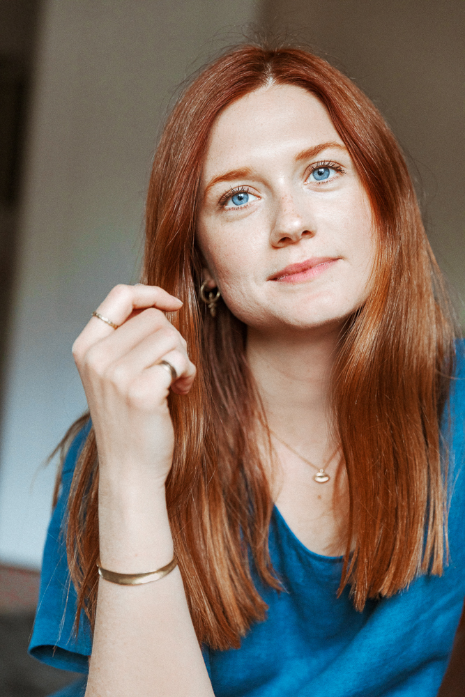 Harry Potters Bonnie Wright On Red Haircare Into The Gloss