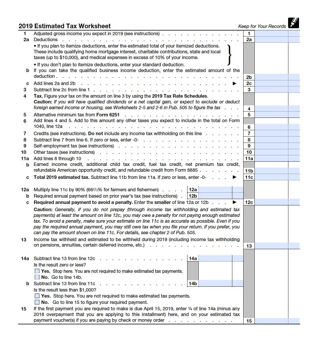 What Is Irs Form Es Guide To Estimated Income Tax