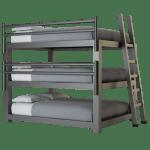 Queen Triple Bunk Bed Adultbunkbeds Com