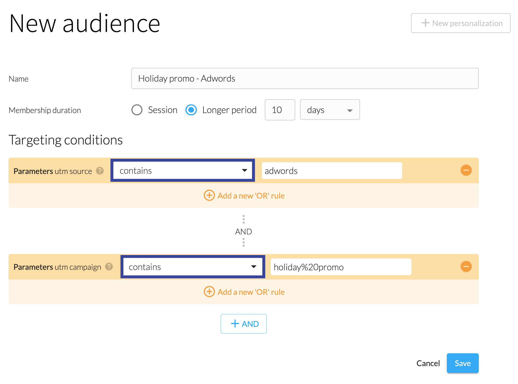 Most of the time when you choose a value to store in a url it puts a hash (#). Audiences based on URL parameters - rapid UX optimization