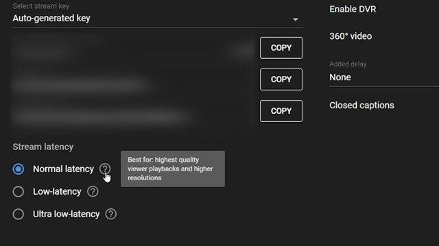 YT-latency-settings