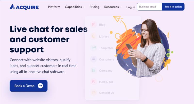 acquire.io home page