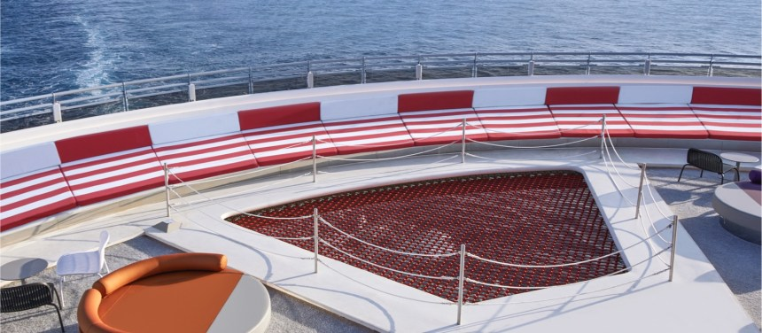 The Athletic Club onboard Scarlet Lady