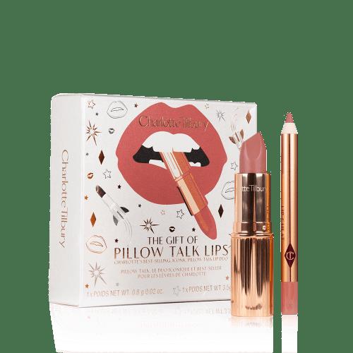 the gift of pillow talk lips lipstick lip liner set