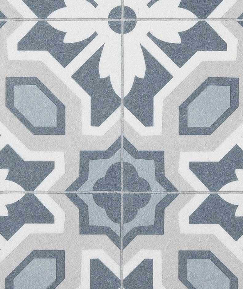 sol vinyle effet carreaux de ciment