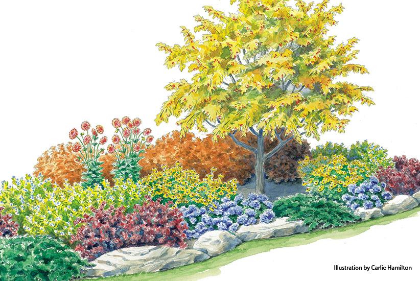 Colorful Fall Garden Bed Garden Gate
