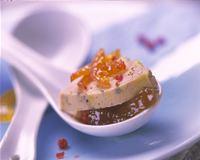 Foie gras de canard grillé, chutney d'abricot