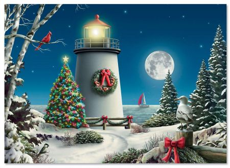 Winter Lighthouse Christmas Cards Current Catalog