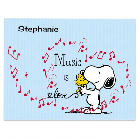 Music PEANUTS Snoopy Personalized Note Cards Current Catalog