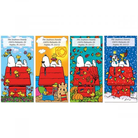 Peanuts SNOOPY 4 Seasons Oversized Address Labels