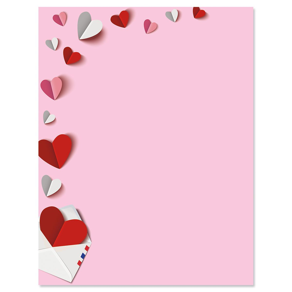 Paper Hearts Valentines Day Letter Papers Current Catalog