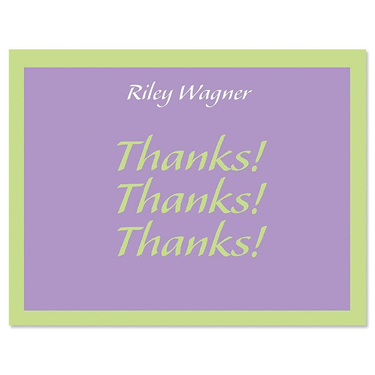 Bordered Hues Personalized Thank You Cards Current Catalog