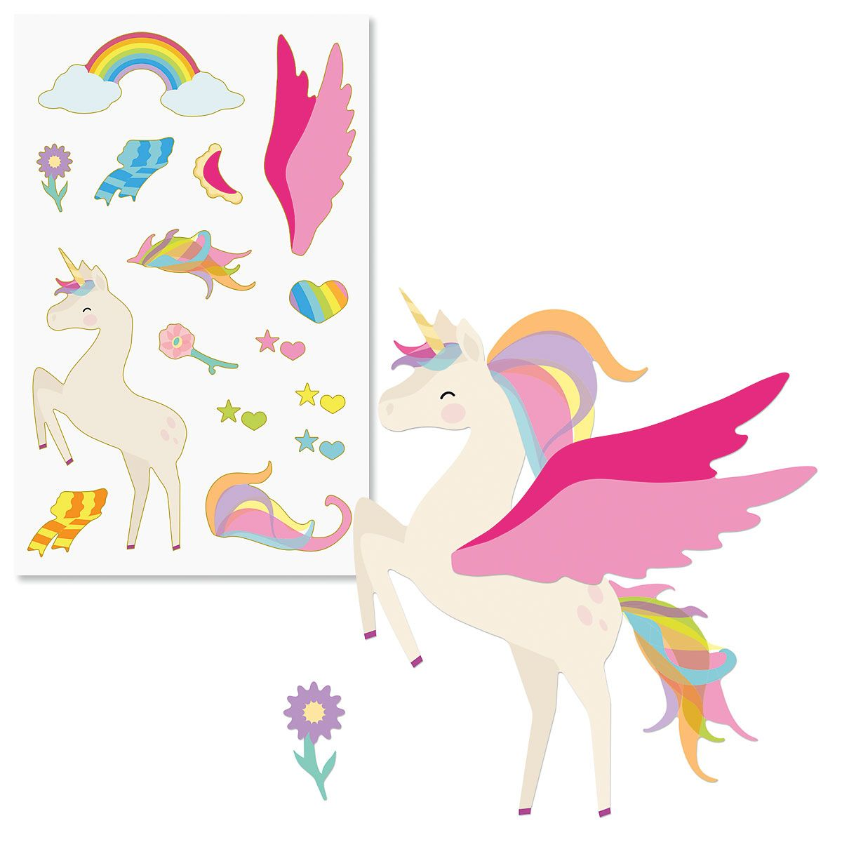 Build A Unicorn Sticker Sheet