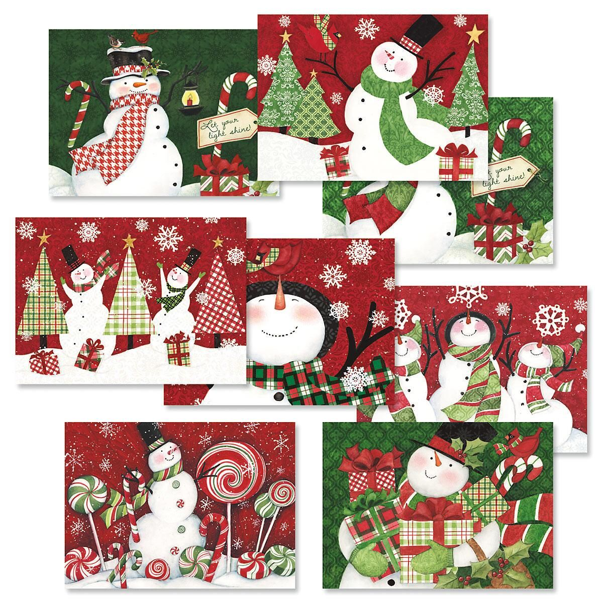 Snowman Christmas Cards Value Pack Christmas Card Value