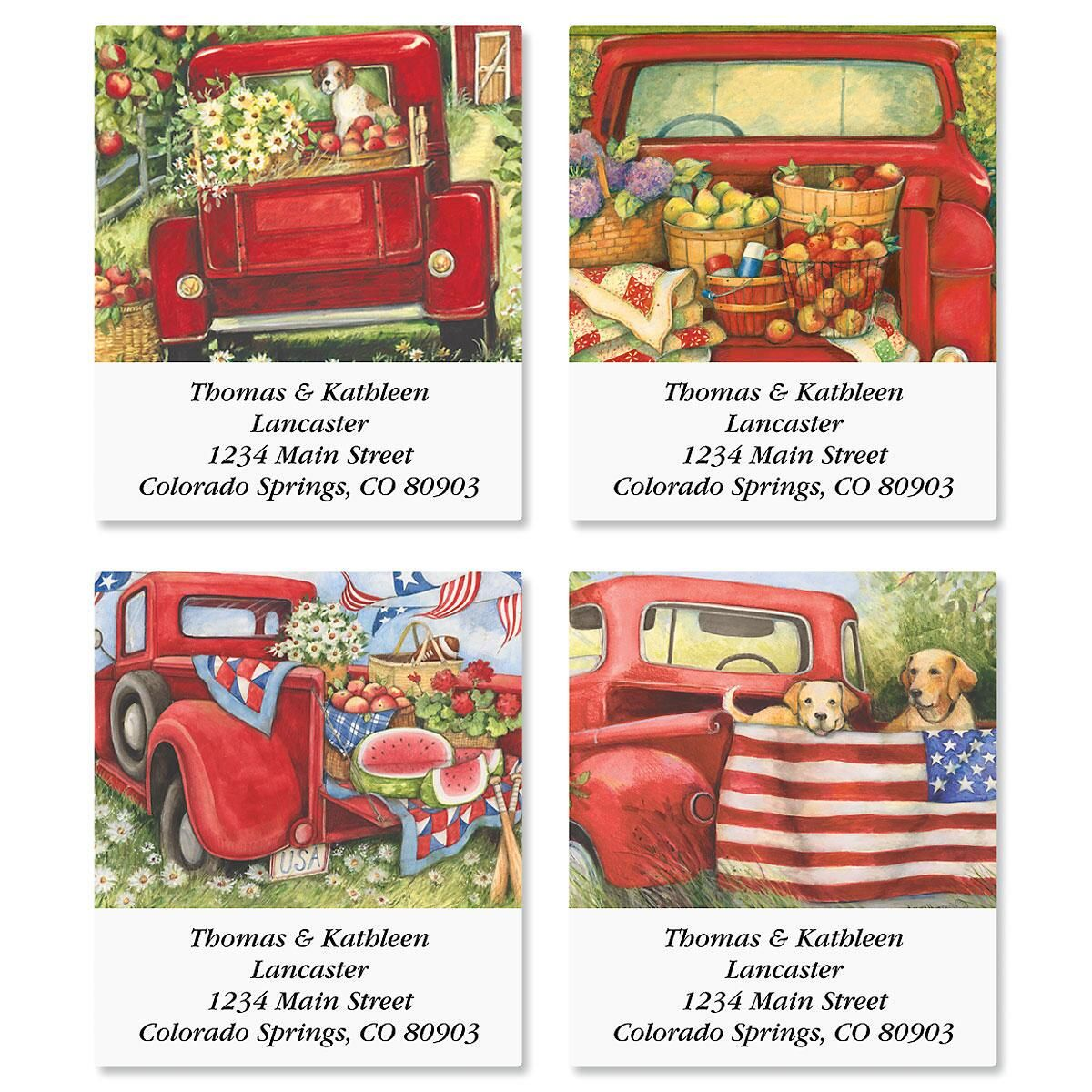Red Truck Select Address Labels Current Catalog
