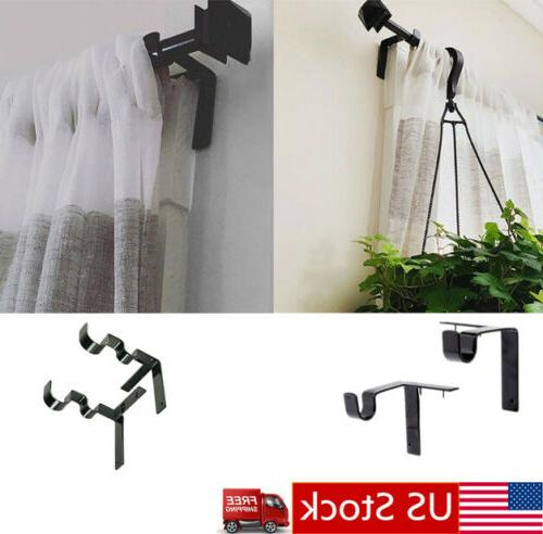 kwik hang double center support curtain rod