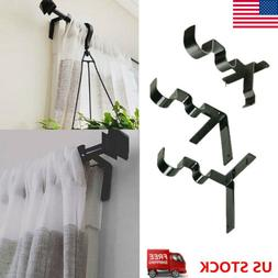 new kwik hang double center support curtain rod bracket into window frame right curtain rods hardware window treatments hardware