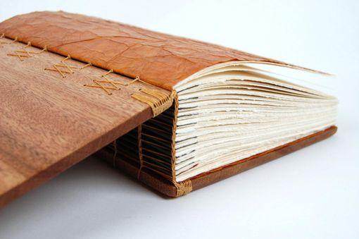 Hand Made Large Mahogany Photo Album Scrapbook Handmade