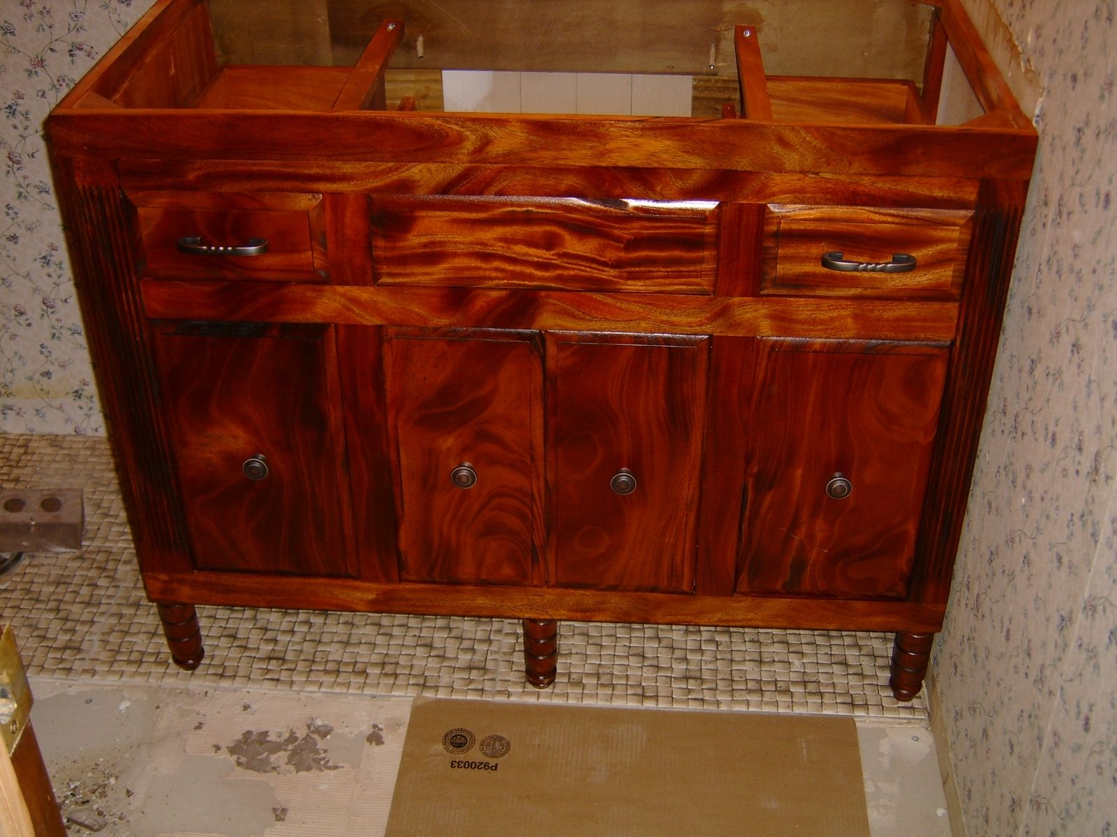 Hand Made African Mahogany Vanity By Design47