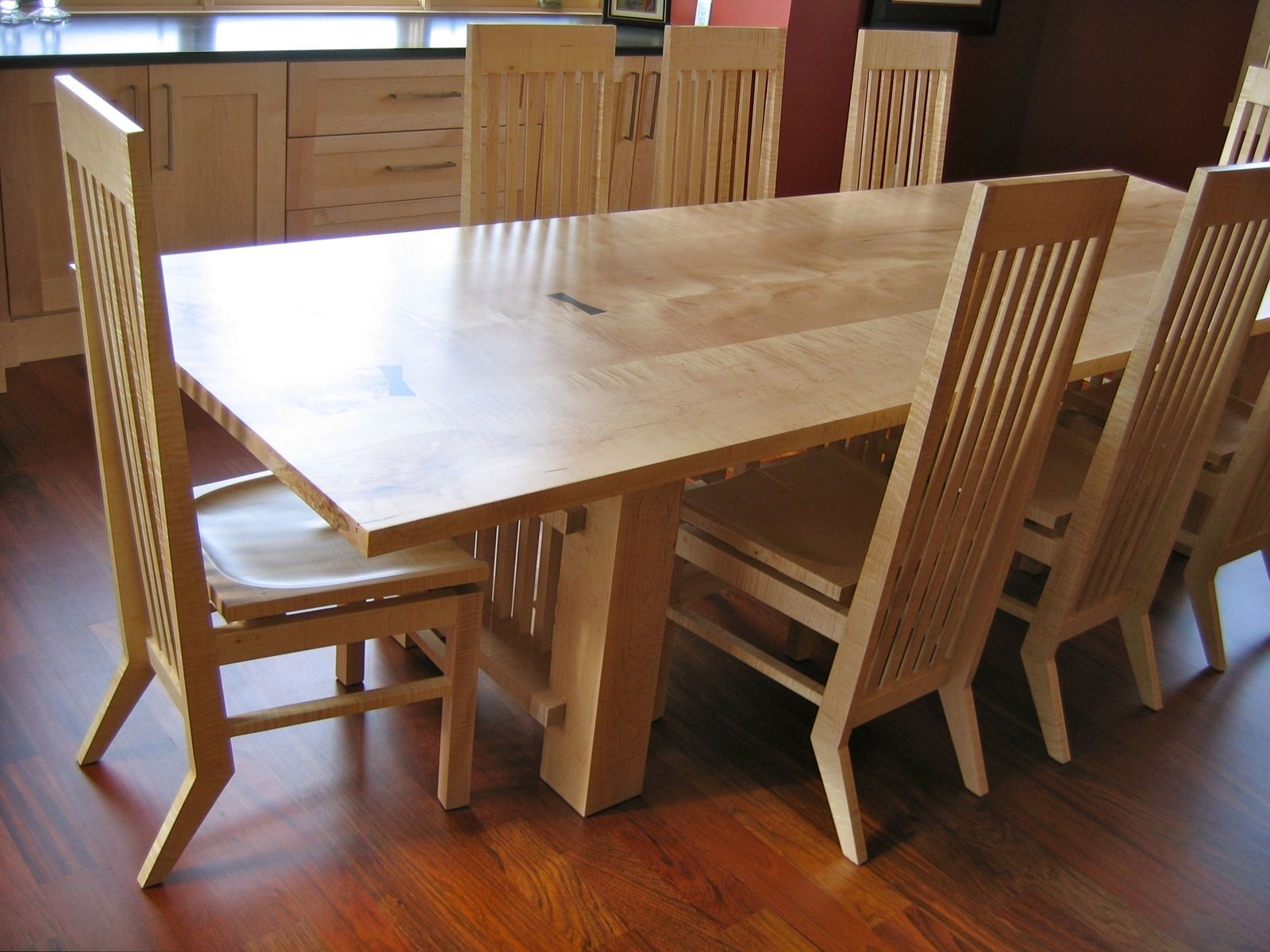 Hand Crafted Maple Dining Table By David Naso Designs