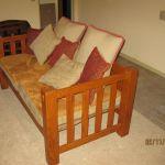 Custom Oak Mission Style Sofa By Hogan Custom Woodworking