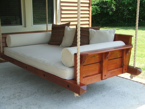 Custom Rustic Porch Bed Swing By Carolina Porch Swings