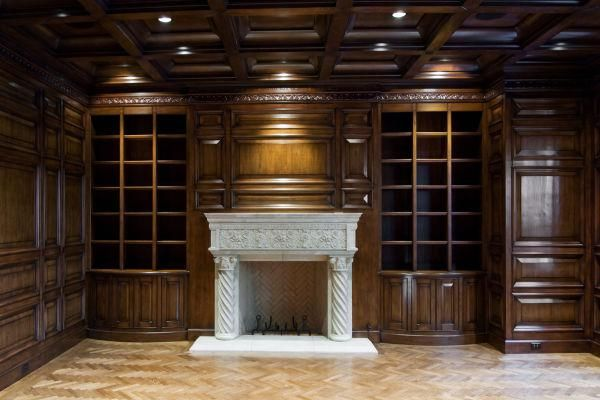 Hand Made Paneled Library By Red Leaf Design Llc