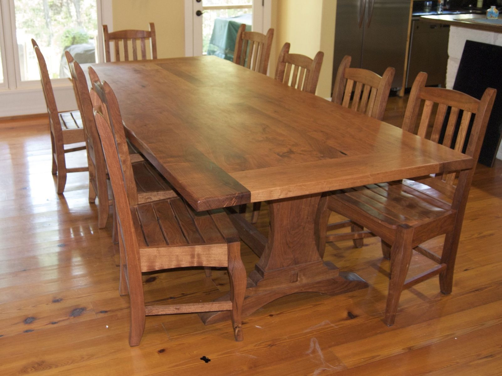 Hand Crafted Mesquite Table Set By Homestead Heritage