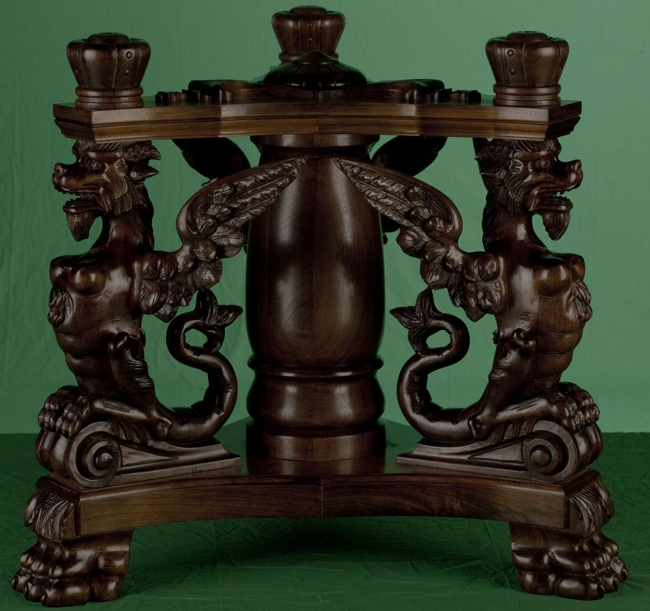 Custom Hand Carved Gargoyle Table By Wood Works By Kestas