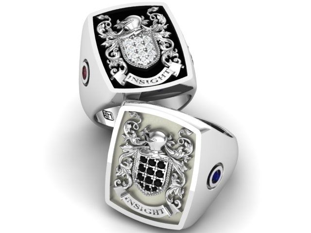 Buy A Hand Crafted Signet Ring Mens Ring Family Crest Ring