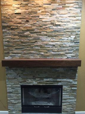Buy A Handmade Walnut Modern Fireplace Mantel Walnut