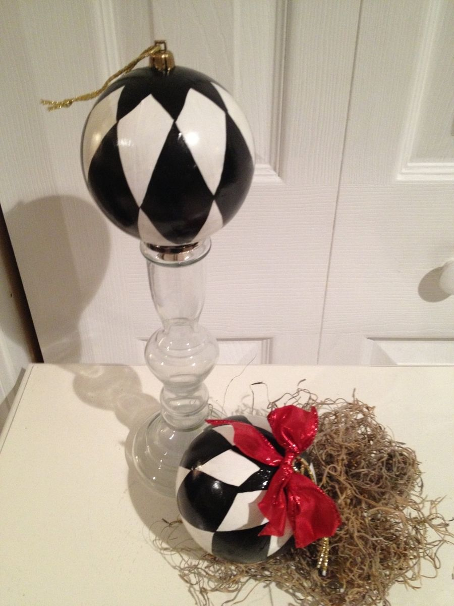 Buy A Custom Hand Painted Black And White Harlequin
