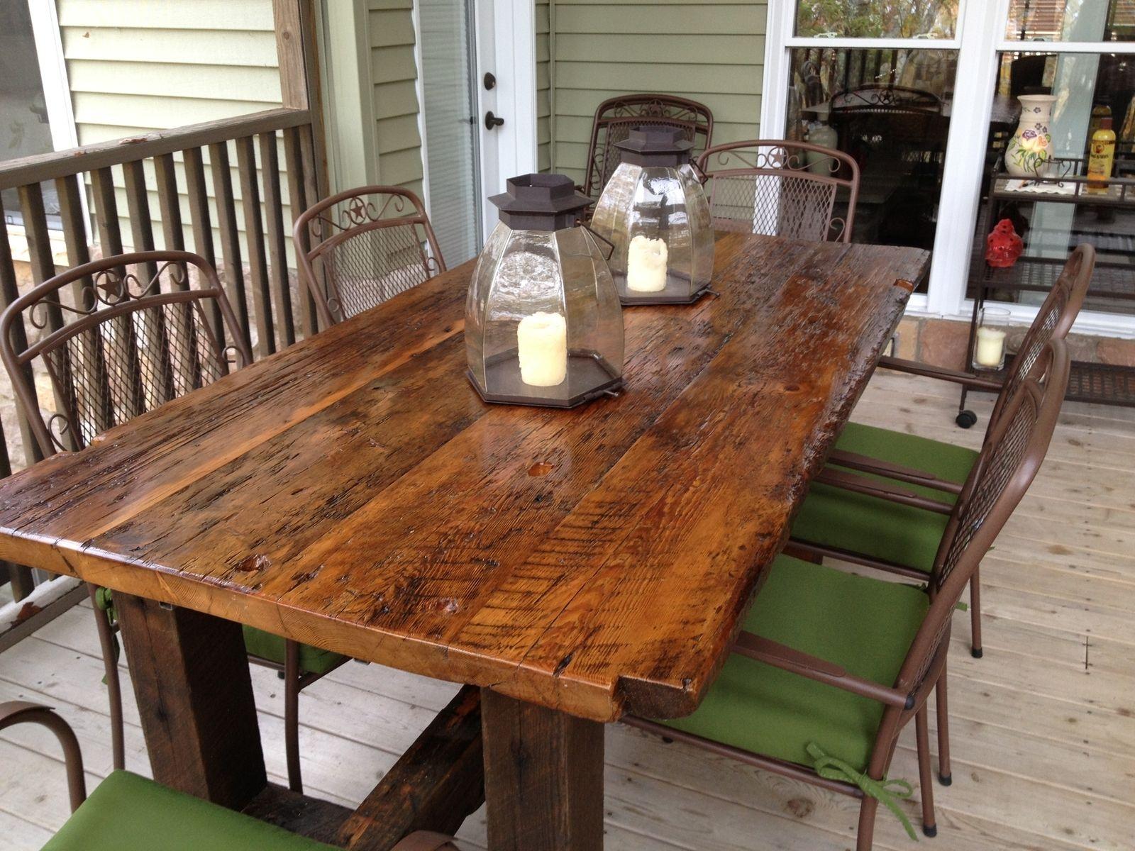 Hand Made Reclaimed Trestle Table By Elias Custom