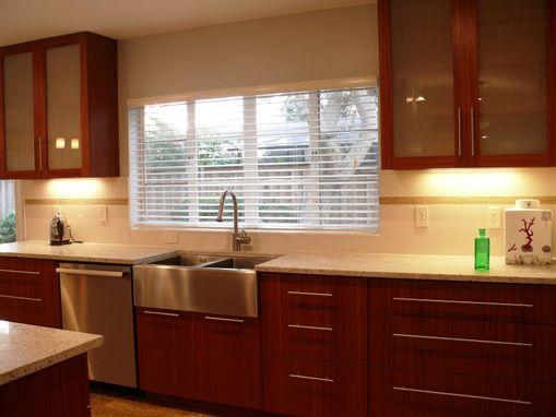 Custom Modern Mahogany Kitchen Cabinets By Natural Mystic