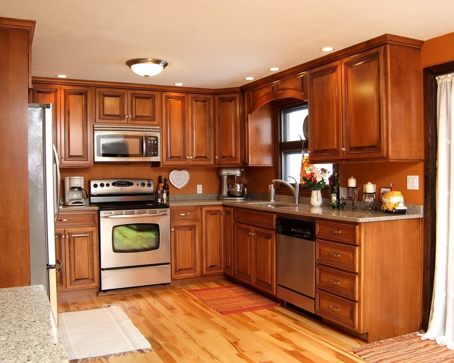 Hand Made Maple Glazed Kitchen With Quartz Countertops by ... on Kitchen Countertops With Maple Cabinets  id=15419