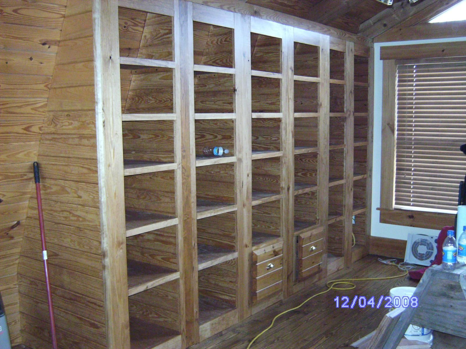 Custom Built In Bookcases With Two File Cabinets By Short