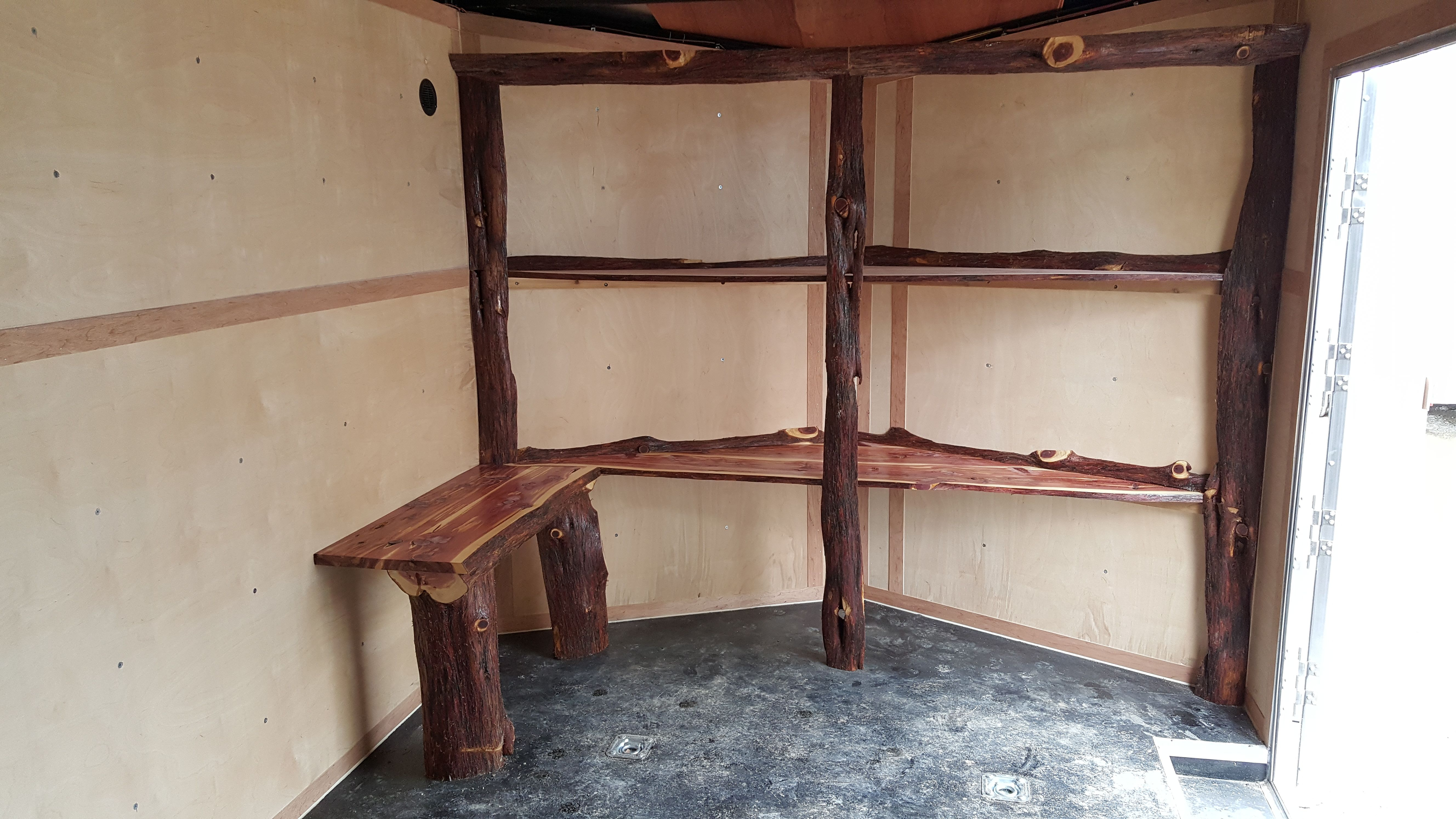 Hand Crafted Rustic Live Edge Cedar Shelving By Tree2Trim