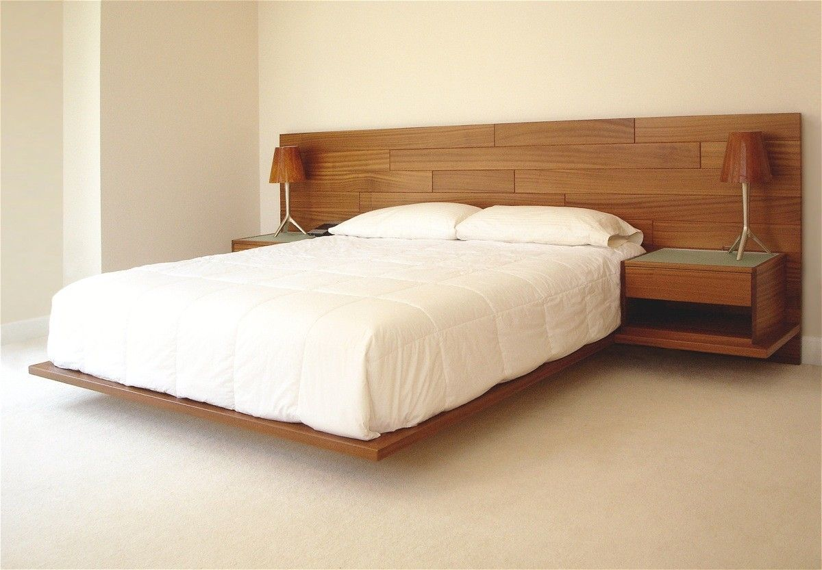 Hand Crafted Floating Bed By Hefner Woodworking Sorkin