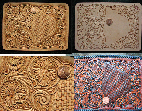 Buy A Custom Tooled Biker Cowboy Wallet Sheridan Floral