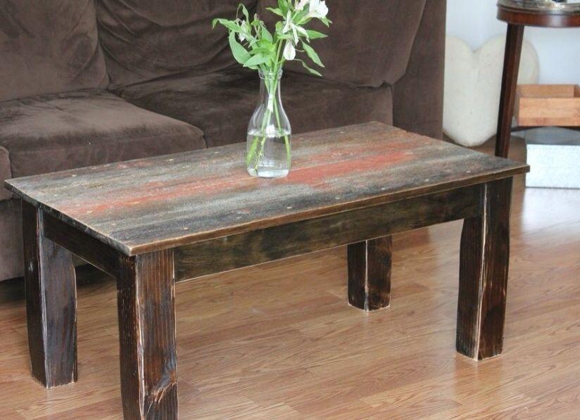 handmade barnwood coffee table by ross