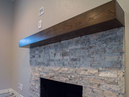 Handmade Cherry Modern Beam Fireplace Mantel By Custom Corners Llc