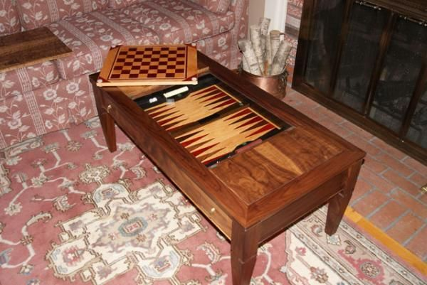 Hand Made Formal Coffee Table Converts To Game Table By